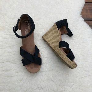 Toms Sienna Wedge Sandals Size 7.5